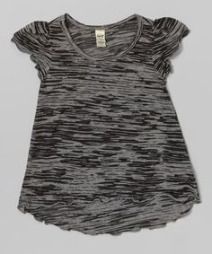 Loving this Black Burnout Ruffle Tee - Infant, Toddler & Girls on #zulily! #zulilyfinds