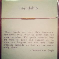 Gold Friendship Bracelet on Silk - Light Pink- I love that quote...maybe I could print it and frame it as a gift.