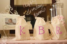 Party Favor Idea with Simply Said Iron-On letters or designs. Starting at $1.10
