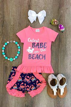"""Cutest Babe on the Beach"" Short Set"