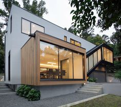 Another modern home to add to your list of design inspirations.