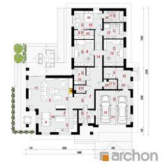 gotowy projekt Dom w amarantusach 6 rzut parteru Minimal Home, Planer, Architecture Design, Minimalism, Kitchen Design, House Plans, Sweet Home, Floor Plans, How To Plan