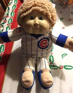 Chicago Cubs Cabbage Patch 1986 Doll, Good Condition, Coleco Baseball