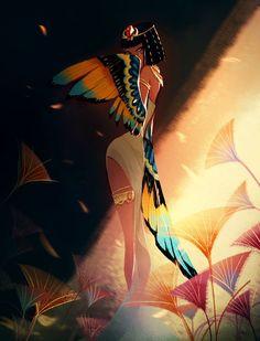 Crystal Kung Art — Isis, goddess of health, marriage, and wisdom Isis Goddess, Egyptian Goddess, Goddess Art, Egyptian Isis, Goddess Tattoo, Egyptian Mythology, Character Design Inspiration, Pretty Art, Art Sketches