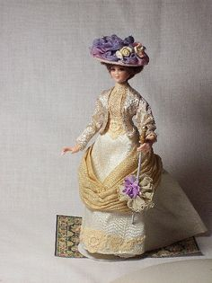 Estelle scale dollhouse doll 112 porcelain miniature by dollsmini, $325.00   Isn't she beautiful?