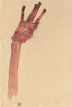Rote Hand (Red Hand) – 1910  Egon Schiele