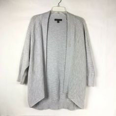4ea153c0186c Banana Republic Women s Size M Open Front Gray Cardigan Sweater Tunic  Cotton 67K  BananaRepublic