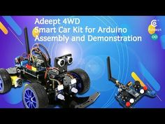 Adeept Smart Car Kit for Arduino with Remote Control Assembly and demonstration Rfid Arduino, Raspberry Pi 2, Pcb Board, Indian Gowns, Smart Car, Kit Cars, Starter Kit, Happy Day, Robots