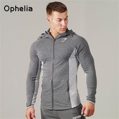 Gymshark hoodies men hooded sweatshirts fashion Muscle Brothers hoodie men Muscle hombre tight hoodie Fitness clothing