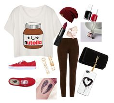 """""""NUTELLA!!!!!!!!!!!!"""" by ilovekod-md on Polyvore featuring Ralph Lauren Black Label, Vans, Yves Saint Laurent, Zero Gravity, Forever 21, Essie and NARS Cosmetics"""