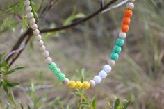 Nursing necklace/ Teething necklace Yellow White  by stellocka, $20.00