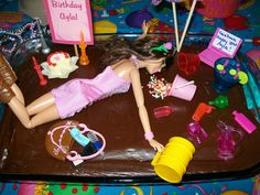 Drunk Barbie Cake...hilarious way to celebrate turning 21!