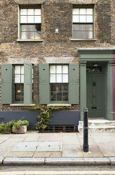 Exterior woodwork and door painted in Farrow & Bal...