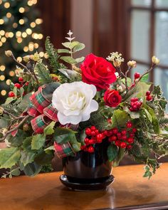 Enjoy this festive silk flower holiday centerpiece all season long, year after year. Shop artificial Christmas floral arrangements at Petals. Silk Flower Centerpieces, Holiday Centerpieces, Silk Flower Arrangements, Christmas Decorations, Holiday Decor, Vase Arrangements, Good Morning Christmas, Good Morning Good Night, Good Morning Flowers