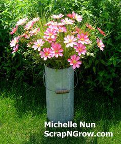 Bloom Blossom, Mixed Media Artists, Handmade Flowers, Flower Crafts, Accent Decor, Paper Flowers, Wonderland, Bucket, Tutorials