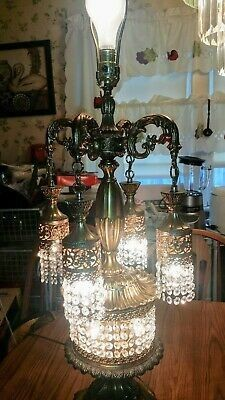 LL WMC TABLE CHANDELIER CRYSTAL/PRISM