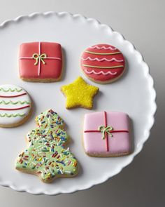 Hand-Decorated Christmas Cookies at Horchow. Better order extras for Santa!  #Horchow #Holiday #Cookies