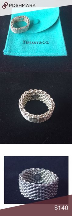 TIFFANY & CO. Somerset Ring Sterling silver. Mesh ring. AUTHENTIC! Good as new-perfect condition. Tiffany & Co. Jewelry Rings
