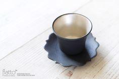 黒釉銀彩カップ&ソーサー/作家「木下和美」/和食器通販セレクトショップ「flatto」