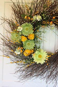 Summer Wreath Tutorial - Summer Wreath from Odds and Ends