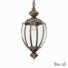 Ideal Lux 5911 - Luster na reťazi Lantern Pendant, Globe Pendant, Pendant Lighting, Brass Lantern, Traditional Lanterns, Farmhouse Fabric, Shape Coding, Globe Lights, Messing