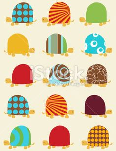 Seamless pattern with turtles Royalty Free Stock Vector Art Illustration