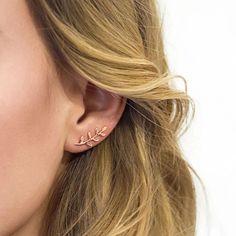 Bar Stud Earrings, Dainty Earrings, Simple Earrings, Rose Gold Earrings, Leaf Earrings, Gold Hoop Earrings, Crystal Earrings, Striped Earrings, Rose Gold Jewelry