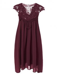 SHARE & Get it FREE   Plus Size Lace Chiffon DressFor Fashion Lovers only:80,000+ Items • New Arrivals Daily Join Zaful: Get YOUR $50 NOW!