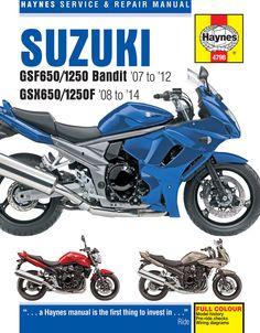 Haynes M4798 Repair Manual for 2007-14 Suzuki GSF650/1250 Bandit & GSX650/1250F