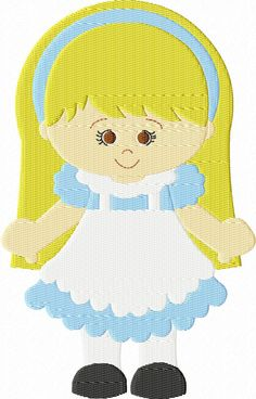 Instant Download 4X4 Alice Inspired Embroidery Design All Formats Available