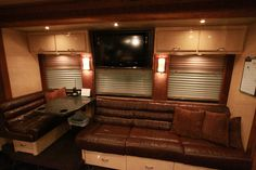Hunter Hayes' Tour Bus, Hayes has flat screens and couches