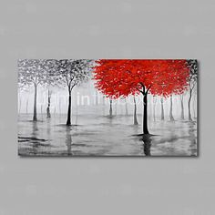 Hand-Painted Oil Painting on Canvas Wall Art Abstract Contempory Trees Forest…