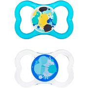 MAM - Air Silicone Pacifier 2-Pack with Cooler Teether, Blue