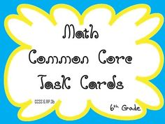 6th Grade Common Core Task Cards 6.RP.3b