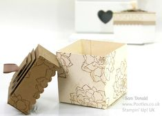 POOTLES Stampin' Up! UK Lidded Box Tutorial using ©Stampin' Up! Squares Framelits