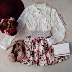 SAIA Boneca  Liliane Godê NO NEOPRENE ( Estampa Flowers Luvre)