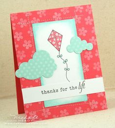 paper crafted cards with kite and sky - Google Search