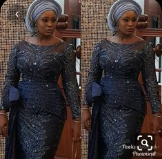 Enchanting aso ebi styles that will inspire you - Opera News Official African Lace Styles, African Lace Dresses, Latest African Fashion Dresses, African Print Fashion, Women's Fashion Dresses, Ankara Styles, African Blouses, Nigerian Lace Dress, Nigerian Dress Styles
