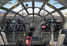 Boeing B-29 cockpit. Beautiful 1940's design and functionality. (look familiar to all you Star Wars fans???