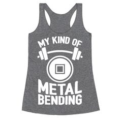 My Kind Of Metalbending - Chest day. Arm day. Leg day. Core day. Long ago, the four nations of weight training lived in harmony. Do you have what it takes to bend that metal? When you're about to hit the gym, grab this nerdy fitness design and show your Avatar love. The going may be Toph, but dig deep and move that iron, Twinkletoes!