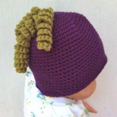 9 Free Crochet Beanie Hat Patterns: Grape Baby Beanie Free Crochet Pattern