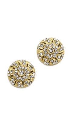 coquille stud earrings / lulu frost