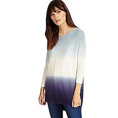 Ladies Ex Debenhams Dip Dye Two Tone Jumper