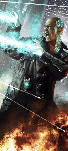 Cyberpunk mage