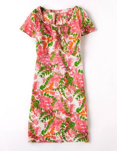 BodenClothing Ariette Dress Multi Pink Fern