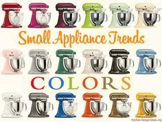 Kitchenaid Mixer Colors Chart. Trending Colors For Kitchen Appliances