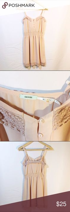 UO Peach nude strappy lace sundress button up Like new condition, no stains or tears. From kimchi blue Urban Outfitters Dresses Mini