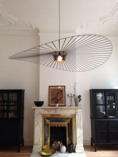 Art hanging from the ceiling: Interior Design, Lighting Fixture, Light Fixtures, Light Fittings
