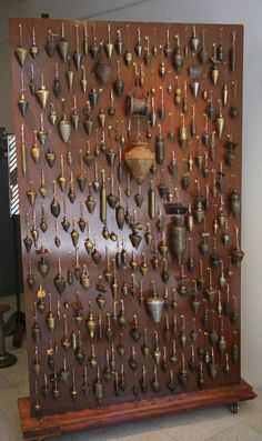 The biggest plumb bobs collection 220 old brass bronze iron aluminium copper