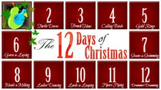 12 Days Of Christmas Gift Ideas, gift ideas for others. This one is great and inexpensive. :)